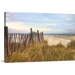 Large Solid-Faced Canvas Print Wall Art Print 30 x 20 entitled West Wittering Beach