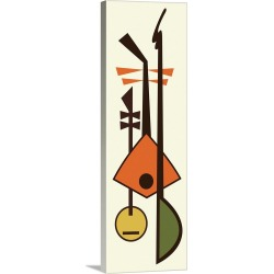 Large Solid-Faced Canvas Print Wall Art Print 16 x 48 entitled Musical Instruments 2