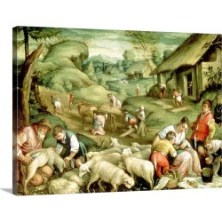 Large Gallery-Wrapped Canvas Wall Art Print 24 x 17 entitled Summer, 1570-80 (see also 65685) found on Bargain Bro India from Great Big Canvas - Dynamic for $229.99