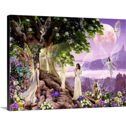 Large Solid-Faced Canvas Print Wall Art Print 40 x 30 entitled Secret Door