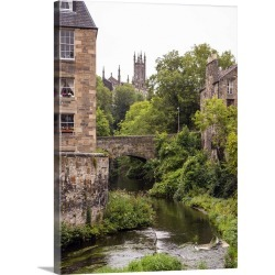 Large Gallery-Wrapped Canvas Wall Art Print 17 x 24 entitled Water of Leith, Edinburgh, Scotland, UK