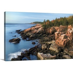Large Gallery-Wrapped Canvas Wall Art Print 30 x 20 entitled Acadia Coastline found on Bargain Bro Philippines from Great Big Canvas - Dynamic for $209.99