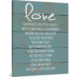 Large Solid-Faced Canvas Print Wall Art Print 24 x 30 entitled Love Grows Best