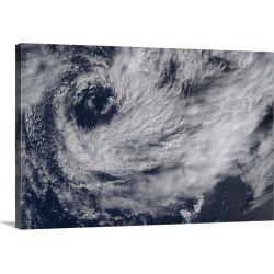 Large Solid-Faced Canvas Print Wall Art Print 30 x 20 entitled A small southern hemisphere cyclone spinning off the Africa...