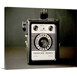 Large Gallery-Wrapped Canvas Wall Art Print 24 x 19 entitled Box Camera