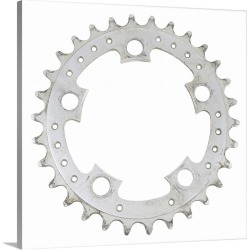 Large Gallery-Wrapped Canvas Wall Art Print 20 x 20 entitled bicycle gear
