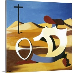 Large Gallery-Wrapped Canvas Wall Art Print 16 x 16 entitled Desert Play found on Bargain Bro India from Great Big Canvas - Dynamic for $164.99