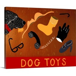 Large Solid-Faced Canvas Print Wall Art Print 30 x 24 entitled Dog Toys