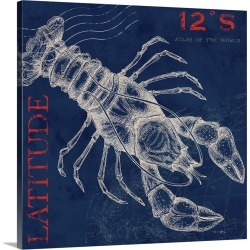 Large Gallery-Wrapped Canvas Wall Art Print 16 x 16 entitled Lobster