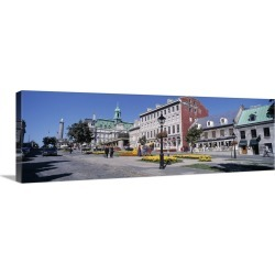 Large Gallery-Wrapped Canvas Wall Art Print 36 x 12 entitled Cityscape Montreal Quebec Canada