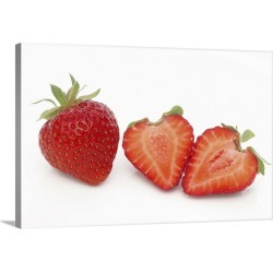 Large Gallery-Wrapped Canvas Wall Art Print 24 x 16 entitled Sweet Organic Strawberries found on Bargain Bro India from Great Big Canvas - Dynamic for $214.99