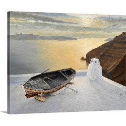 Large Gallery-Wrapped Canvas Wall Art Print 20 x 16 entitled Santorini 7, 2010