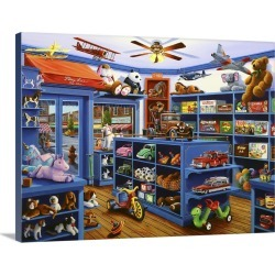 Large Solid-Faced Canvas Print Wall Art Print 40 x 30 entitled Mary Lee's Toy Store