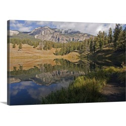 Large Solid-Faced Canvas Print Wall Art Print 36 x 24 entitled Reflection on Trout Lake in Yellowstone National Park. found on Bargain Bro Philippines from Great Big Canvas for $259.99