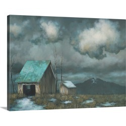 Large Solid-Faced Canvas Print Wall Art Print 40 x 30 entitled Lonely House