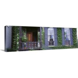 Large Gallery-Wrapped Canvas Wall Art Print 36 x 12 entitled House Savannah GA