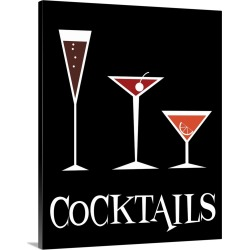 Large Gallery-Wrapped Canvas Wall Art Print 16 x 20 entitled Cocktails found on Bargain Bro India from Great Big Canvas - Dynamic for $134.99