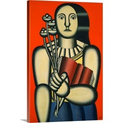 Large Gallery-Wrapped Canvas Wall Art Print 16 x 24 entitled Woman with a Book found on Bargain Bro India from Great Big Canvas - Dynamic for $214.99
