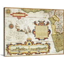 Large Gallery-Wrapped Canvas Wall Art Print 24 x 18 entitled Map Of Western Africa By Arnold Florent Van Langren After Jan... found on Bargain Bro India from Great Big Canvas - Dynamic for $234.99