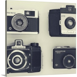 Large Solid-Faced Canvas Print Wall Art Print 20 x 20 entitled 4 Vintage Cameras found on Bargain Bro India from Great Big Canvas - Dynamic for $129.99