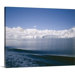 Large Gallery-Wrapped Canvas Wall Art Print 20 x 16 entitled West coast of Antarctic Peninsula, Antarctica