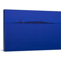 Large Solid-Faced Canvas Print Wall Art Print 30 x 20 entitled Lighthouse on an island, Thacher Island, Rockport, Cape Ann... found on Bargain Bro India from Great Big Canvas - Dynamic for $174.99