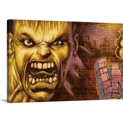 Large Gallery-Wrapped Canvas Wall Art Print 30 x 20 entitled Hulk Graffiti in the Bronx New York City