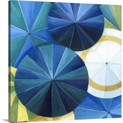 Large Gallery-Wrapped Canvas Wall Art Print 20 x 20 entitled Blue Umbrella