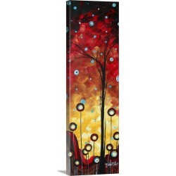 Large Solid-Faced Canvas Print Wall Art Print 12 x 36 entitled Winter Blooms