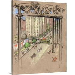 Large Gallery-Wrapped Canvas Wall Art Print 19 x 24 entitled A View Of 110th Street In New York City, 1906