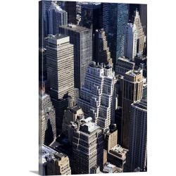 Large Gallery-Wrapped Canvas Wall Art Print 20 x 30 entitled The rooftop view of Midtown Manhattan, New York City