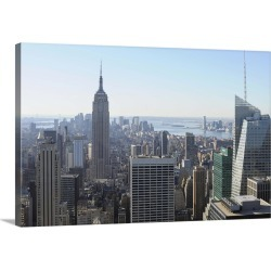 Large Gallery-Wrapped Canvas Wall Art Print 30 x 20 entitled New York City, View of Empire State Building in Manhattan