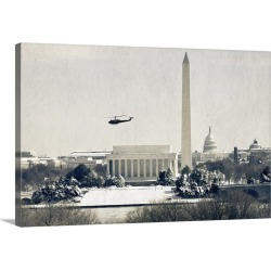 Large Solid-Faced Canvas Print Wall Art Print 30 x 20 entitled Monument Stack with Halo