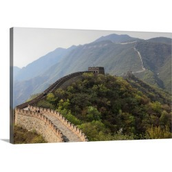 Large Gallery-Wrapped Canvas Wall Art Print 24 x 16 entitled Mutianyu section of the Great Wall of China found on Bargain Bro India from Great Big Canvas - Dynamic for $169.99