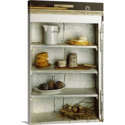 Large Solid-Faced Canvas Print Wall Art Print 20 x 30 entitled Various foods in food cupboard