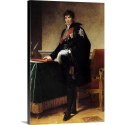 Large Solid-Faced Canvas Print Wall Art Print 20 x 30 entitled Portrait of the Count Michel Regnault de Saint Jean d'Angel...