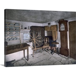 Large Gallery-Wrapped Canvas Wall Art Print 24 x 18 entitled Burns Cottage Interior. Ayr