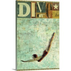 Large Gallery-Wrapped Canvas Wall Art Print 16 x 24 entitled Dive In