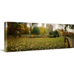 Large Gallery-Wrapped Canvas Wall Art Print 48 x 19 entitled Trees in a park Central Park Manhattan New York City New York...