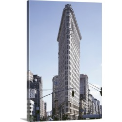 Large Gallery-Wrapped Canvas Wall Art Print 20 x 30 entitled The Flatiron Building in New York City, 1990