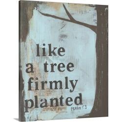 Large Solid-Faced Canvas Print Wall Art Print 24 x 30 entitled Llike A Tree