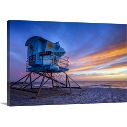 Large Solid-Faced Canvas Print Wall Art Print 30 x 20 entitled Superman Colors - Ponto Beach