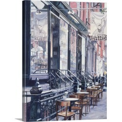 Large Gallery-Wrapped Canvas Wall Art Print 17 x 24 entitled Cafe Della Pace, East 7th Street, New York City, 1991 found on Bargain Bro India from Great Big Canvas - Dynamic for $229.99