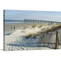 Large Solid-Faced Canvas Print Wall Art Print 30 x 20 entitled St. Augustine Beach, Florida