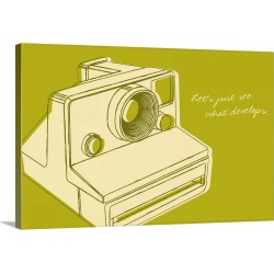 Large Gallery-Wrapped Canvas Wall Art Print 30 x 20 entitled Lunastrella Instant Camera
