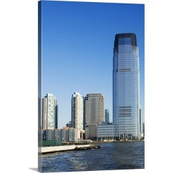 Large Gallery-Wrapped Canvas Wall Art Print 16 x 24 entitled 30 Hudson Street Building, Jersey City, New Jersey, USA