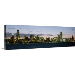 Large Gallery-Wrapped Canvas Wall Art Print 36 x 12 entitled City at the waterfront, Chicago, Illinois found on Bargain Bro Philippines from Great Big Canvas - Dynamic for $179.99