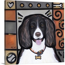 Large Gallery-Wrapped Canvas Wall Art Print 16 x 16 entitled English Springer Spaniel Pop Art found on Bargain Bro India from Great Big Canvas - Dynamic for $164.99