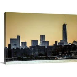 Large Gallery-Wrapped Canvas Wall Art Print 24 x 16 entitled New York, New York City City, from Long Island City found on Bargain Bro India from Great Big Canvas - Dynamic for $169.99