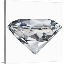 Large Solid-Faced Canvas Print Wall Art Print 20 x 20 entitled A diamond